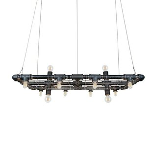 Adelita 12-Light Rectangle Chandelier by Trent Austin Design