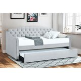 Cardi Button Tufted Twin Daybed with Trundle by Winston Porter