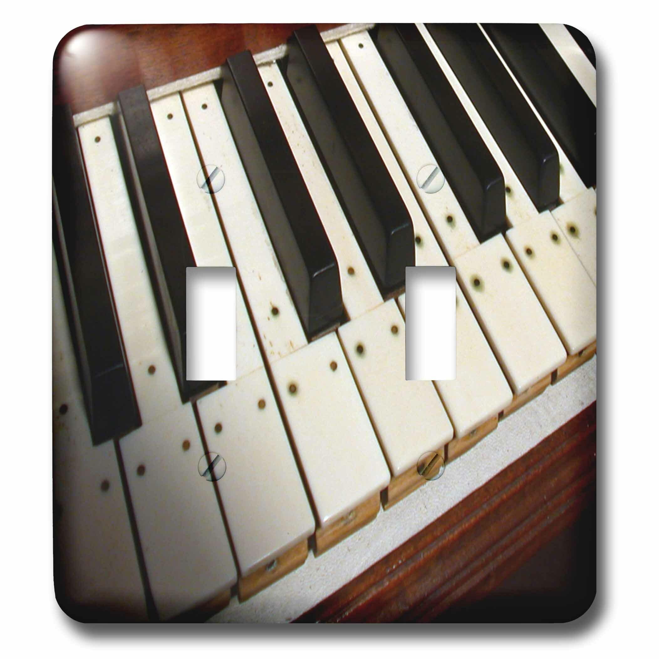 3drose Piano Keyboard 2 Gang Toggle Light Switch Wall Plate Wayfair