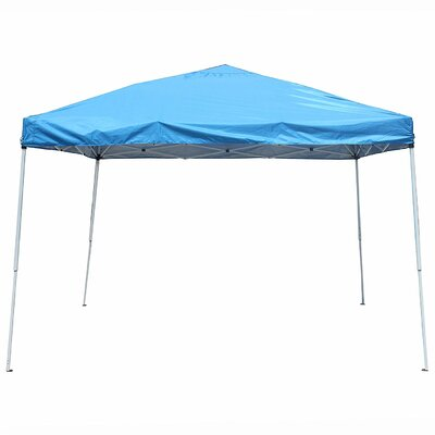 Collapsible 10 Ft. W x 10 Ft. D Steel Pop-Up Canopy ALEKO