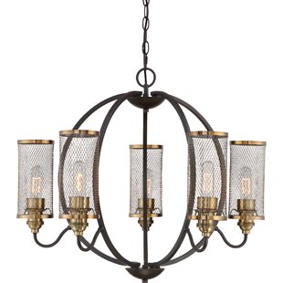 Gracie Oaks Jesvin 6-Light Shaded Chandelier