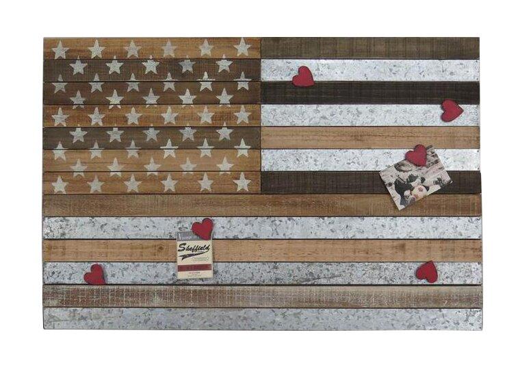 17 Stories Horizontal Wooden American Flag Wall Decor | Wayfair