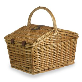Slope-Sided Light Steamed Picnic Basket By Union Rustic