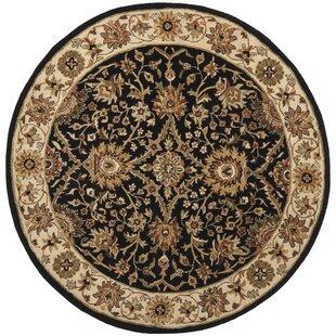 Dunbar Hand-Tufted Wool Black/Brown/Beige Area Rug by Charlton Home