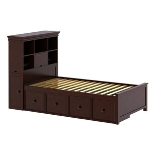 Cowan Twin Bed with Drawers and Bookcase by Harriet Bee