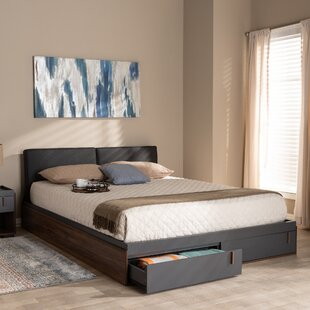 Aspatria Queen Upholstered Storage Platform Bed