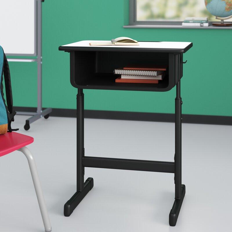 Flash Furniture Manufactured Wood Adjustable Height Open Front Desk Reviews Wayfair