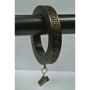 Festus Large Greek Key Designer Curtain Ring (Set of 8) by Bloomsbury Market