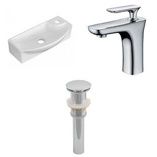 Ceramic U-Shaped Bathroom Sink with Faucet American Imaginations