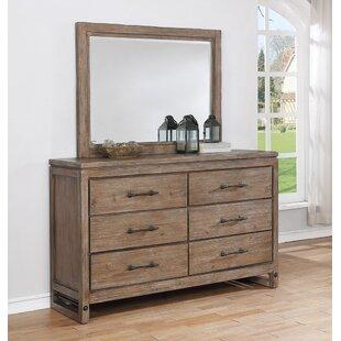 Avalon Furniture Round Rock 6 Drawer Dresser with Mirror