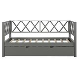 Semeraro Twin Solid Wood Daybed with Trundle by Gracie Oaks