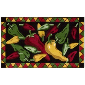 High Quality Greenmeadow Black Chili Peppers Area Rug