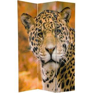 East Urban Home Leopard 3 Panel Room Divider