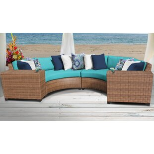 Medina Outdoor 4 Piece Sectional Seating Group with Cushions