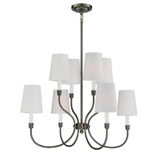 Potvin 8-Light Shaded Chandelier by Charlton Home