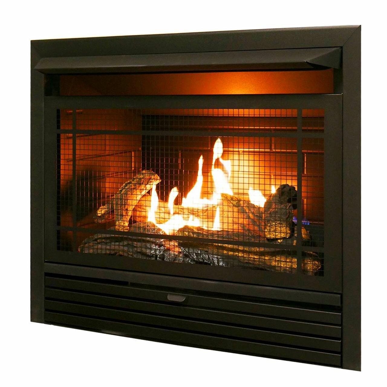 charlton home hardwick vent free recessed natural gas propane rh wayfair com ventless propane fireplace inserts reviews best ventless propane fireplace insert