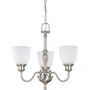 Killough 3-Light Shaded Chandelier by Charlton Home