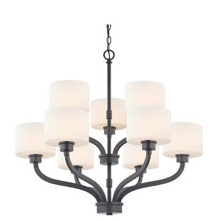 Kalina 9-Light Shaded Chandelier by Dolan Designs
