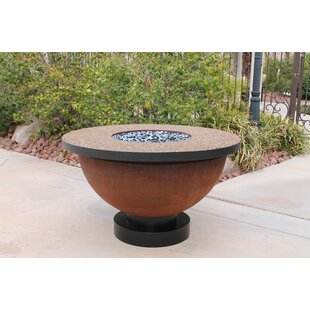 Patina Steel Propane Fire Pit Table