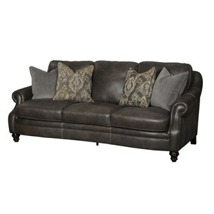 Darby Home Co Shantell Leather Sofa