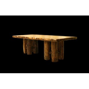Amias Stump Base Solid Wood Dining Table Millwood Pines