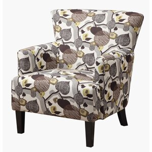 Sierra Blanca Leaf Print Armchair by Red Barrel Studio