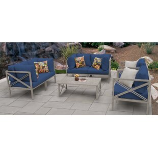 Carlisle Outdoor 7 Piece Sofa Seating Group with Cushions
