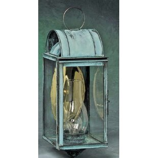 Affordable Xzavier 1-Light Outdoor Wall Lantern By Breakwater Bay