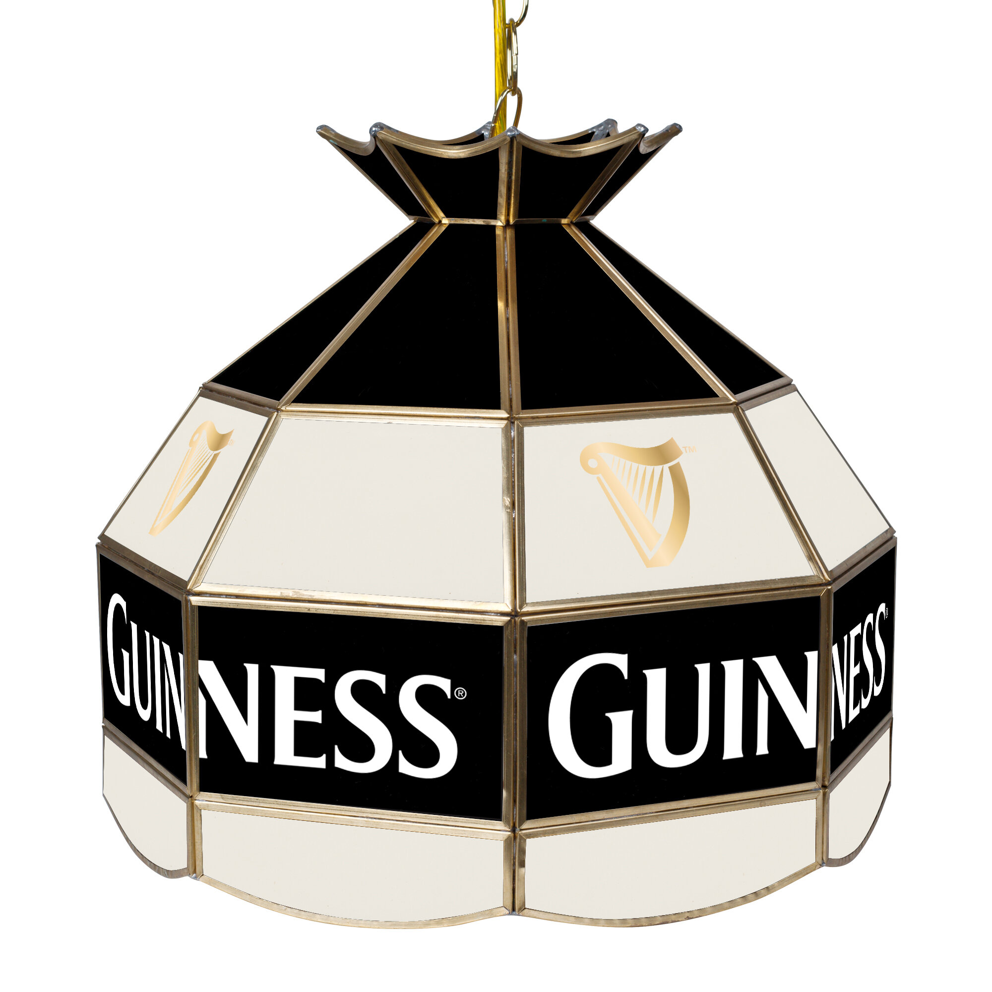 Trademark Global Guinness Stained Glass 1 Light Pool Table Lights