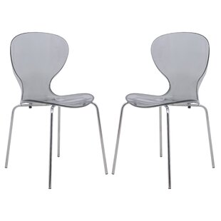 LeisureMod Oyster Dining Chair (Set of 2)