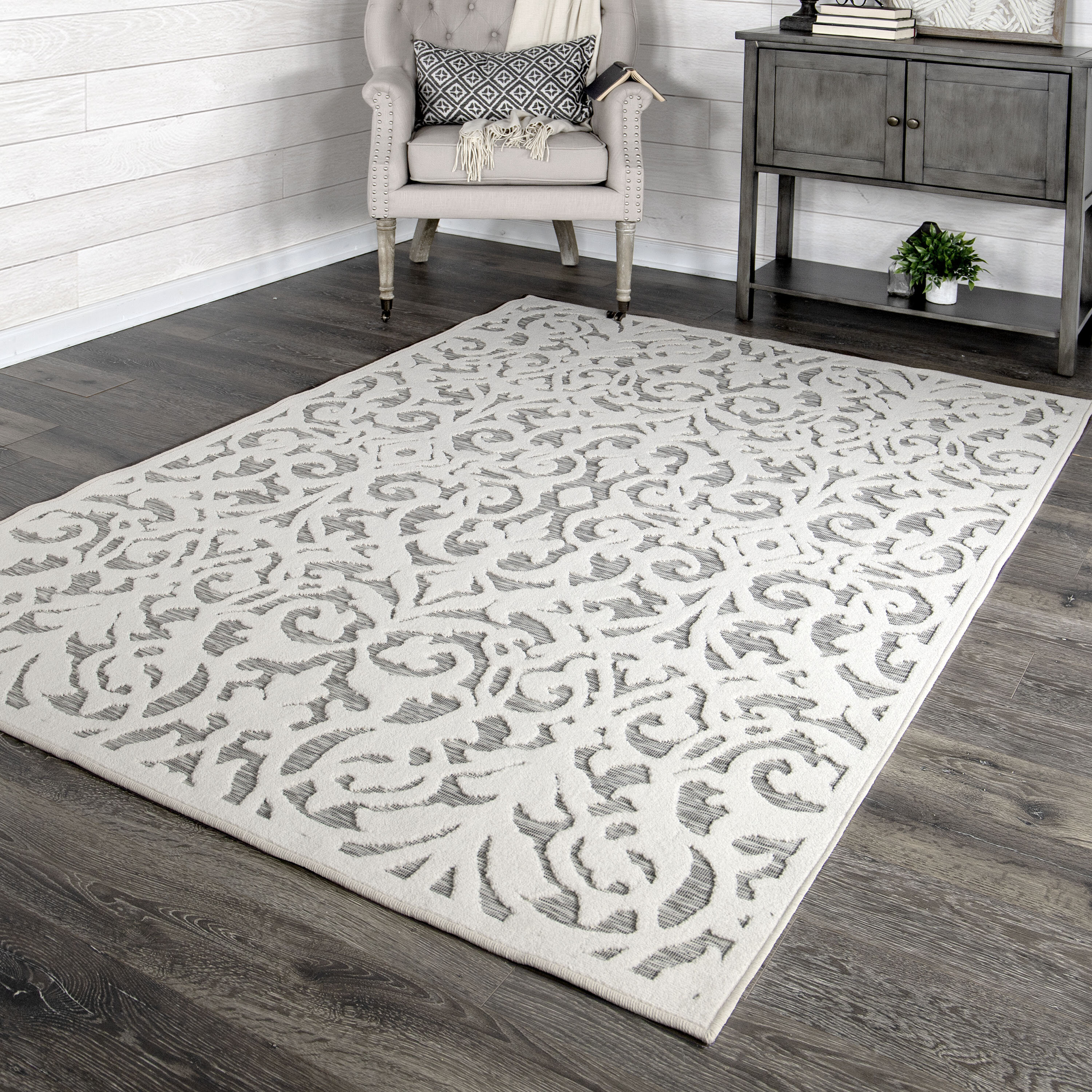 My Texas House By Orian Indoor Outdoor Lady Bird Natural Gray Area Rug Reviews Wayfair