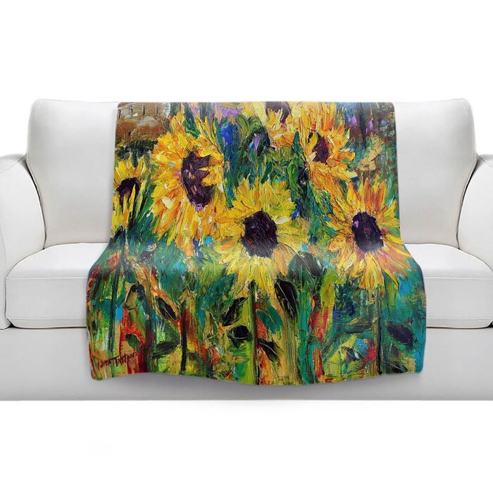 Sunflower Sunshine Sherpa Blanket