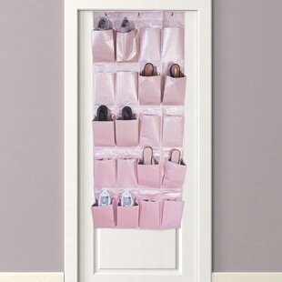 Metallic 20 Pair Overdoor Shoe Organizer Rebrilliant
