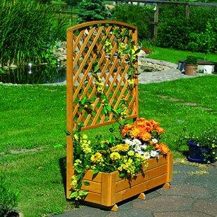 Apulia Wooden Planter Box With Trellis By Freeport Park