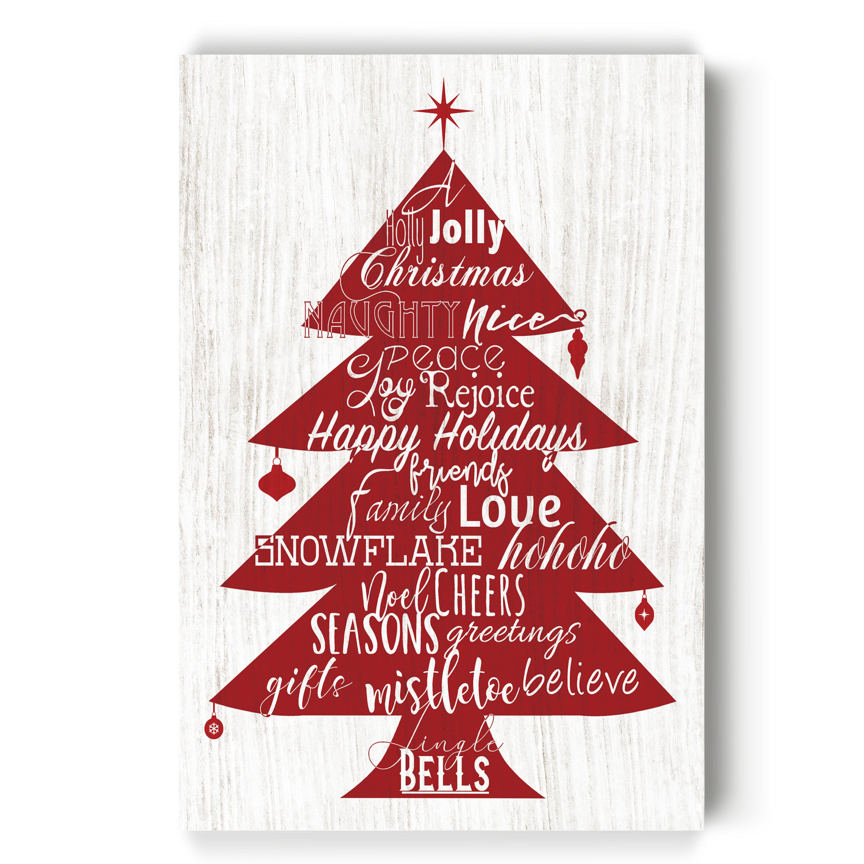 The Holiday Aisle Holly Jolly Christmas Tree Gallery By Parvez Taj 1 Piece Wrapped Canvas Print Wayfair