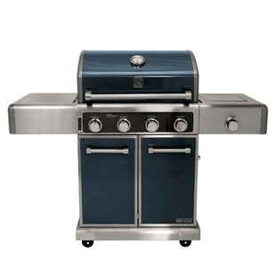 Kenmore Elite 4-Burner Liquid Propane Convertible Gas Grill With Side Burner By Kenmore