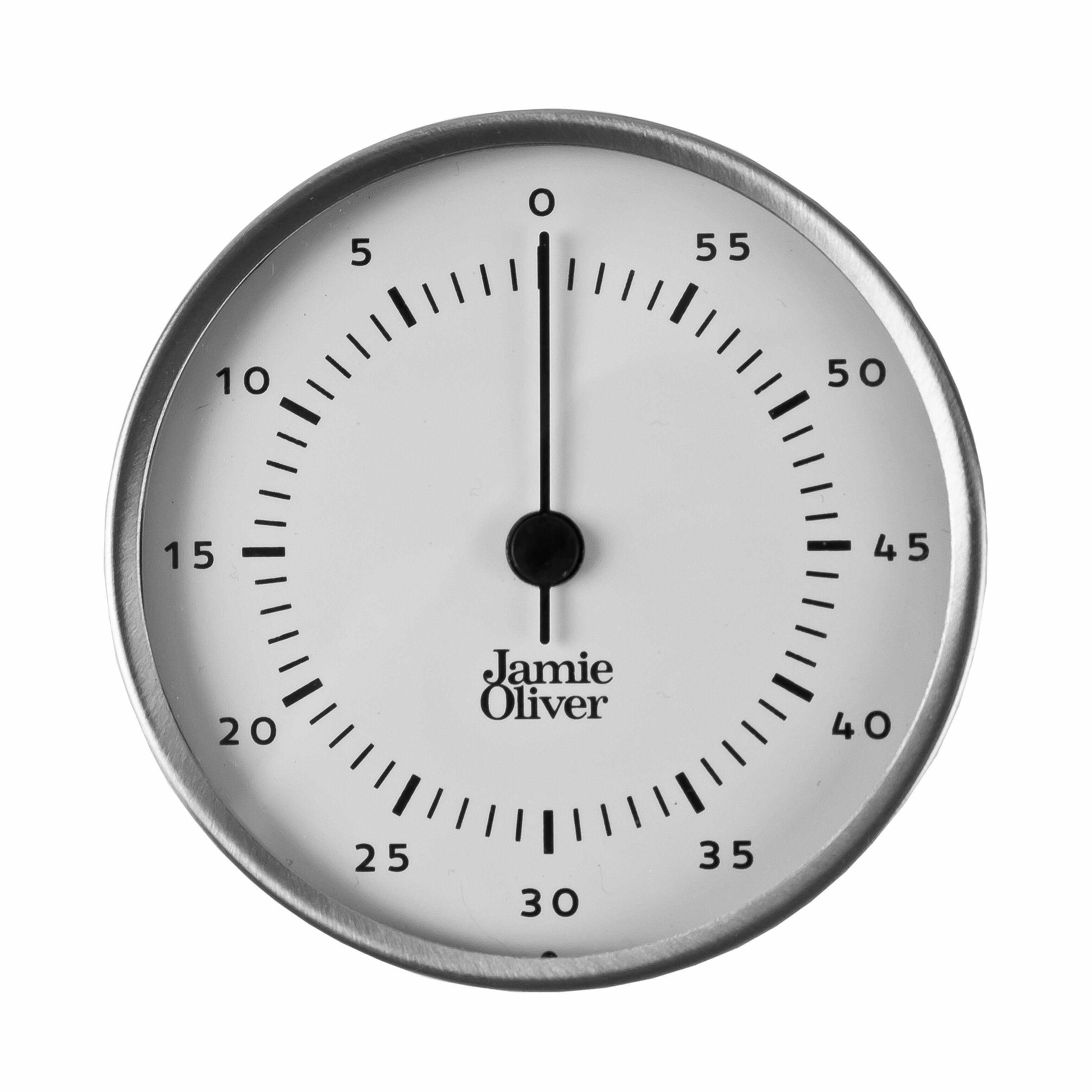 Jamie Oliver Stainless Steel Magnetic Kitchen Timer with Manual Wind ...