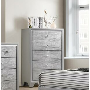 House of Hampton Wash 5 Drawer Chest