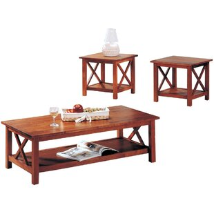 Delancey Wooden 3 Piece Coffee Table Set