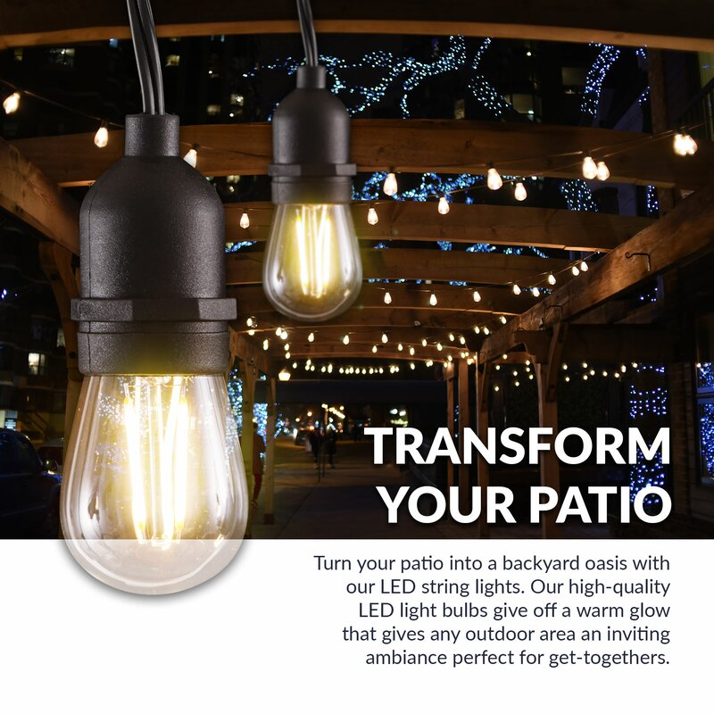 Weatherproof 16 Light Globe String Lights