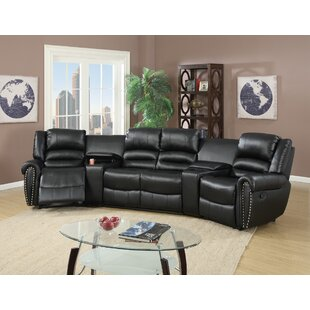 Darby Home Co Reclining Home Theater Sectional