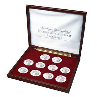 Brilliant Uncirculated Morgan Silver Dollar Collection Display Box By American Coin Treasures