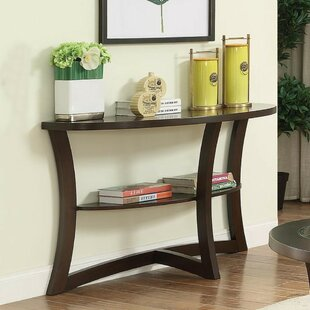 Gargano Glass Console Table by Ebern Designs Purchase
