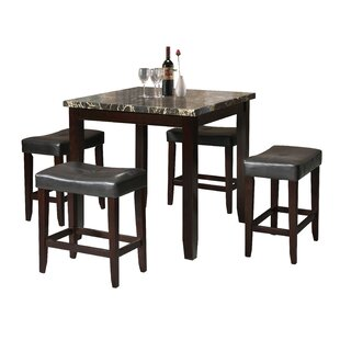 Online Reviews Dehaven 5 Piece Counter Height Dining Set By Latitude Run