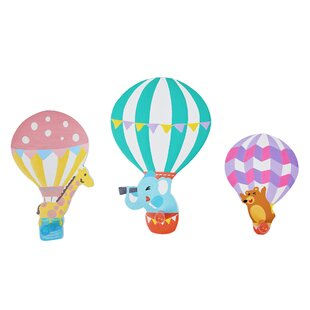 Hot Air Balloon 3 Piece Wall Hook Set By Fantasy Fields By Teamson