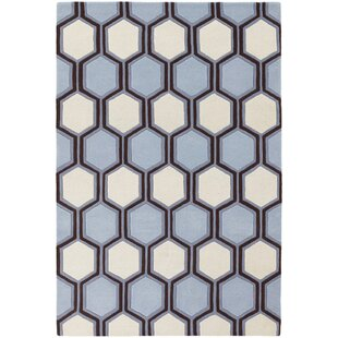Tamika Blue/Off White Area Rug By Corrigan Studio