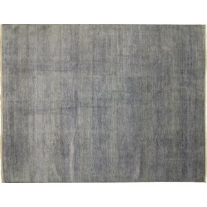 Grass Super Fine Shirin Hand-Knotted Gray Area Rug