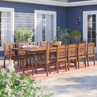 Brighton 13 Piece Eucalyptus Wood Dining Set by Sol 72 Outdoor