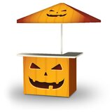 Winterview Halloween Jack O Lantern 2-Piece Home Bar Set