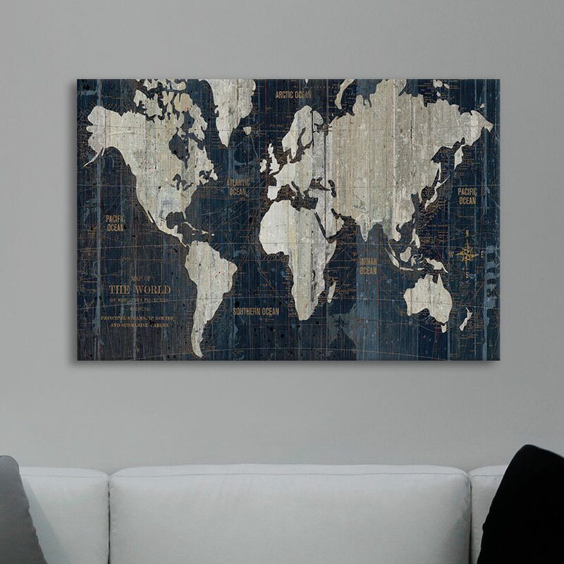 Mercury row old world map graphic art print on wrapped canvas old world map graphic art print on wrapped canvas gumiabroncs Gallery